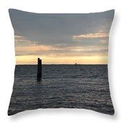Thomas Point - The Morning Sun Over The Bay Throw Pillow
