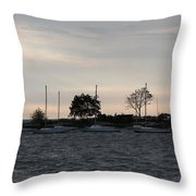 Thomas Point - Waiting To Sail Throw Pillow