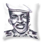 Thomas Sankara 02 Throw Pillow
