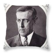 Thomas Woodrow Wilson, 1856 To 1924 Throw Pillow