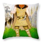 Thor Odinsson Throw Pillow by Ilias Patrinos