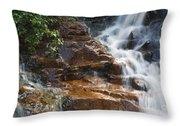 Thoreau Falls - White Mountains New Hampshire  Throw Pillow by Erin Paul Donovan