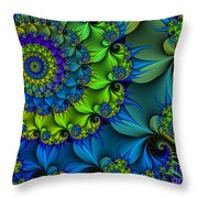 Thorn Flower Throw Pillow