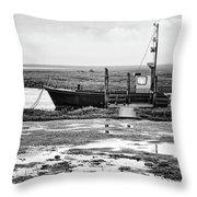 Thornham Harbour, North Norfolk Throw Pillow