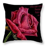 Thorns Have Roses  Throw Pillow