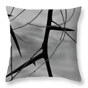 Thorns In Silouette Throw Pillow