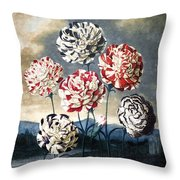 Thornton: Carnations Throw Pillow