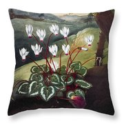 Thornton: Cyclamen Throw Pillow
