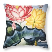 Thornton: Lotus Flower Throw Pillow
