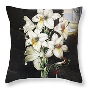 Thornton: White Lily Throw Pillow