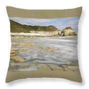 Thornwick Bay At Flamborough Throw Pillow