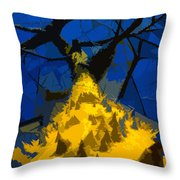 Thorny Tree Blue Sky Throw Pillow