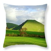 Thorpe Cloud From Bunster Hill Throw Pillow
