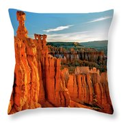 Thor's Hammer Bryce Canyon National Park Throw Pillow