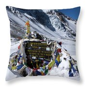 Thorong La Pass, Annapurna Circuit, Nepal Throw Pillow