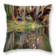 Those Eyes Frog Eyes Throw Pillow