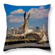 Those Jersey Gulls  Throw Pillow