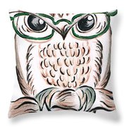 Owl- Those Spectacles  Throw Pillow