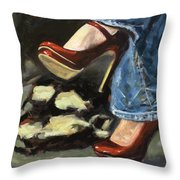 Those Shoes Throw Pillow