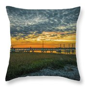 Those Southern Sunsets Throw Pillow