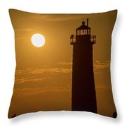 Oh Those Summer Nights Throw Pillow