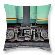 Those Wheels Keep On Turning In Rome Italy Throw Pillow