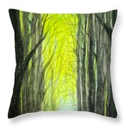 Though The Forest To The Light  Throw Pillow