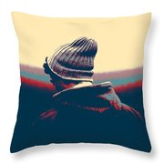 Thoughful Youth Throw Pillow