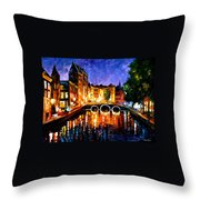 Thoughtful Amsterdam Throw Pillow