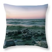 Thoughtful River Throw Pillow