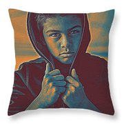 Thoughtful Youth 11 Throw Pillow