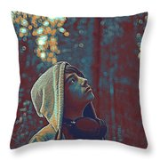 Thoughtful Youth 12 Throw Pillow