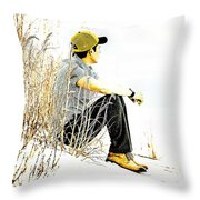 Thoughtful Youth 6 Throw Pillow