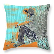 Thoughtful Youth 7 Throw Pillow