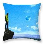 Thoughtful Youth 8 Throw Pillow