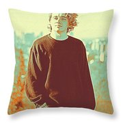 Thoughtful Youth 9 Throw Pillow