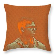 Thoughtful Youth Series 19 Throw Pillow