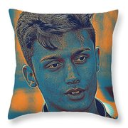 Thoughtful Youth Series 27 Throw Pillow
