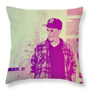 Thoughtful Youth Series 28 Throw Pillow