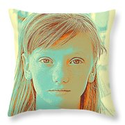 Thoughtful Youth Series 33 Throw Pillow