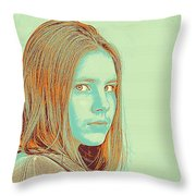 Thoughtful Youth Series 34 Throw Pillow