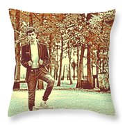 Thoughtful Youth Series 37 Throw Pillow