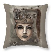 Thoughts Fantasy Throw Pillow