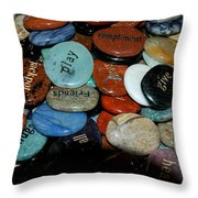 Thoughts In Stone Throw Pillow