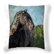 Thoughts Of Friesians Throw Pillow