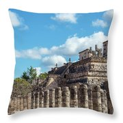 Thousand Columns And Temple Of The Warriors Throw Pillow