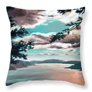 Thousand Island Sunset Throw Pillow