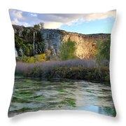 Thousand Springs Idaho Throw Pillow