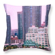 Thousands Of Windows On The Harbor Throw Pillow