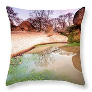 Thracian Sanctuary Throw Pillow by Evgeni Dinev